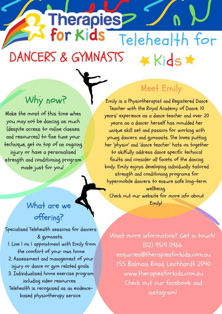 Telehealth for Dancers and Gymnasts Poster